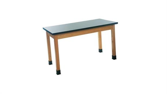 "Science & Lab Tables Diversified Woodcrafts 24"" x 48"" Science Table with Laminate Top"