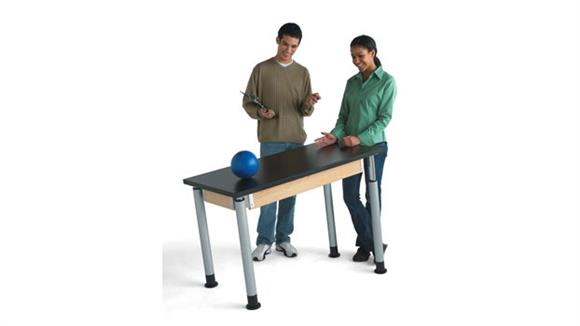 "Activity Tables Diversified Woodcrafts 24"" x 48"" Adjustable Table with ChemGuard Top"