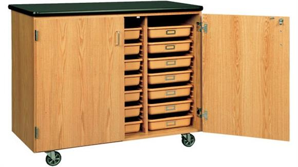 Storage Cabinets Diversified Woodcrafts Mobile Tote Tray Storage Cabinet