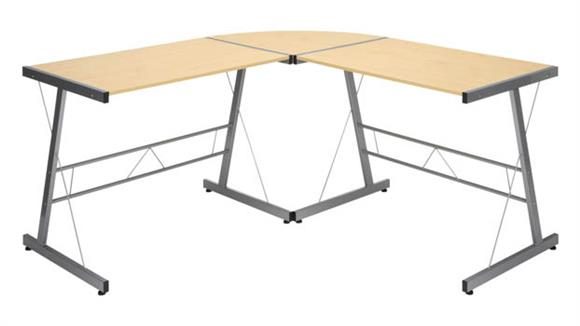 "L Shaped Desks Essentials 60"" Metal Frame L-Shaped Desk"