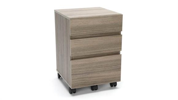 Mobile File Cabinets OFM Essentials 3-Drawer Mobile Pedestal