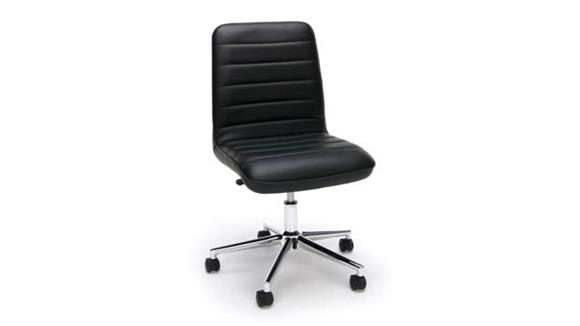 Office Chairs OFM Essentials Leather Mid-Back Chair