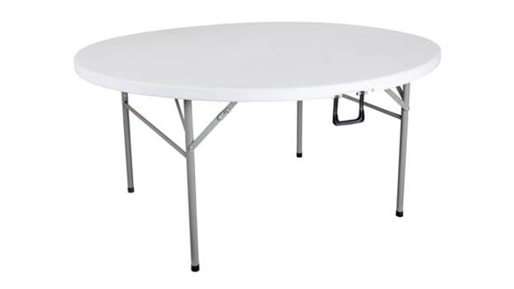 "Folding Tables OFM Essentials 48"" Round Center-Folding Utility Table"