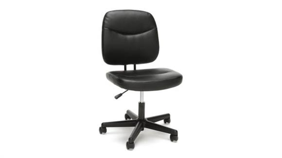Office Chairs OFM Essentials Armless Leather Desk Chair