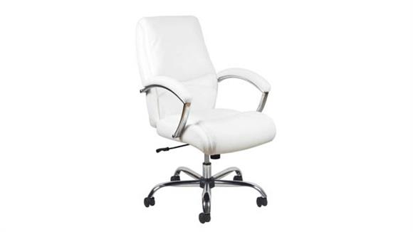 Office Chairs Essentials High Back Leather Chair