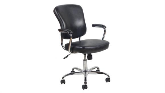 Office Chairs OFM Essentials Mid Back Leather Chair