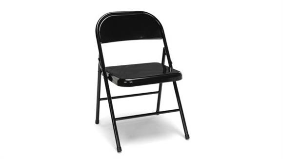 Folding Chairs OFM Essentials Metal Folding Chairs (set of 4)