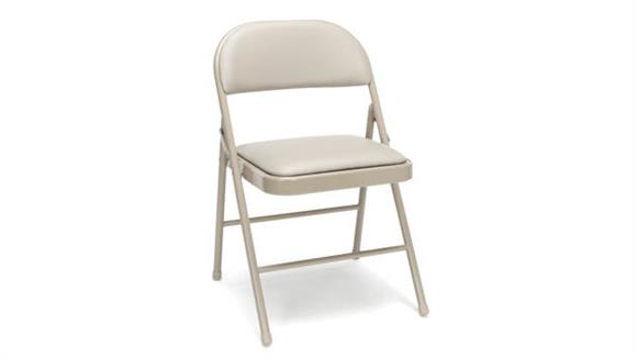 Folding Chairs Essentials Padded Metal Folding Chair (set of 4)