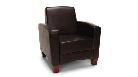 Side & Guest Chairs OFM Essentials Traditional Leather Arm Chair
