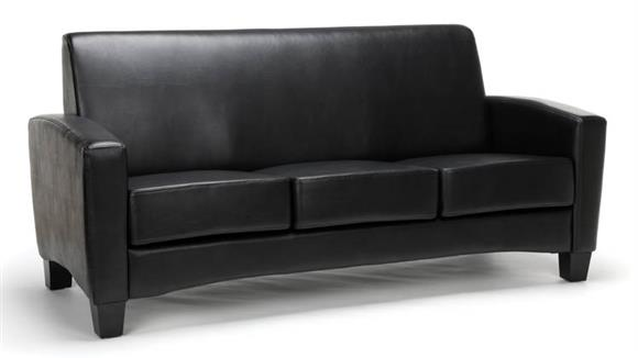Sofas OFM Essentials Traditional Leather Sofa