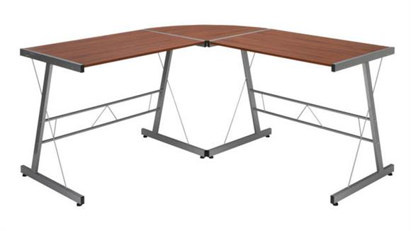 "L Shaped Desks OFM Essentials 60"" Metal Frame L-Shaped Desk"