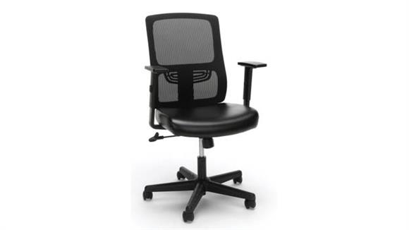 Office Chairs OFM Essentials Mesh Back Leather Task Chair