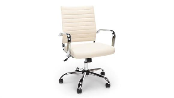 Office Chairs Essentials Ribbed Leather Exective Chair
