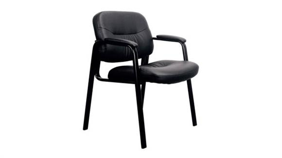 Side & Guest Chairs OFM Essentials Executive Leather Side Chair