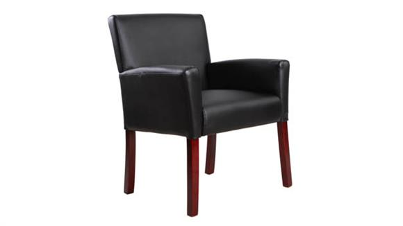 Side & Guest Chairs OFM Essentials Leather Executive Guest Chair