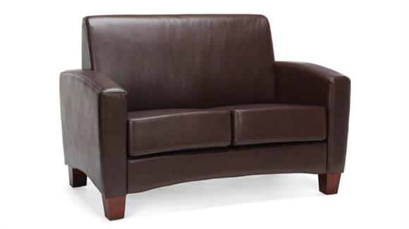 Loveseats OFM Essentials Traditional Leather Loveseat