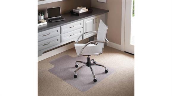 "Chair Mats ES Robbins 45"" x 53"" Chair Mat for Flat to Low Pile Carpet"