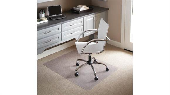 "Chair Mats ES Robbins 46"" x 60"" Chair Mat for Flat to Low Pile Carpet"