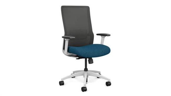 Office Chairs Sit On It High Back Task Chair with White Base