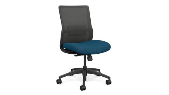 Office Chairs Sit On It Armless Mid Back Task Chair with Black Base