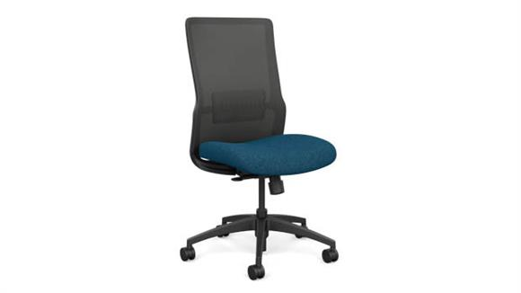 Office Chairs Sit On It Armless High Back Task Chair with Black Base