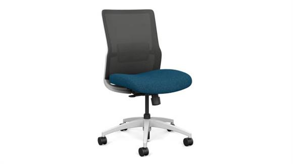 Office Chairs Sit On It Armless Mid Back Task Chair with White Base