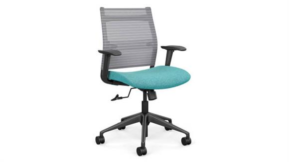 Office Chairs SitOnIt Mid Back Task Chair with Black Base