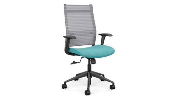 Office Chairs SitOnIt High Back Task Chair with Black Base