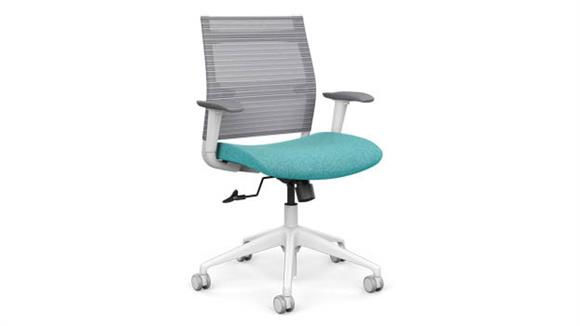 Office Chairs SitOnIt Mid Back Task Chair with White Base