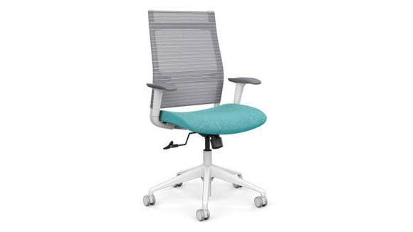 Office Chairs SitOnIt High Back Task Chair with White Base