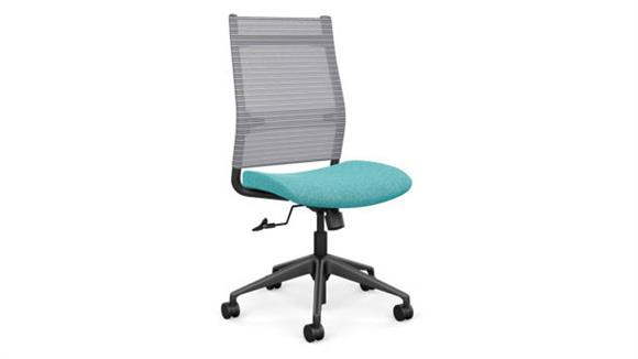 Office Chairs SitOnIt High Back Armless Task Chair with Black Base