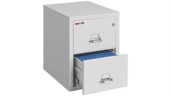 "File Cabinets Vertical FireKing 2 Drawer Fireproof Letter 25""D File"