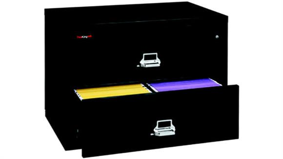 File Cabinets Lateral FireKing 2 Drawer Fireproof Lateral File
