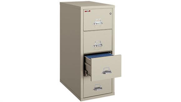 File Cabinets Vertical FireKing 4 Drawer Letter Fireproof File