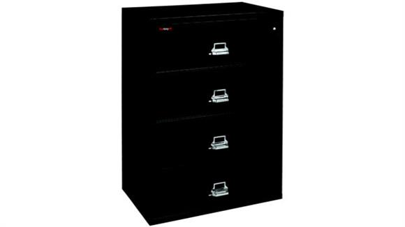File Cabinets Lateral FireKing 4 Drawer Fireproof Lateral File