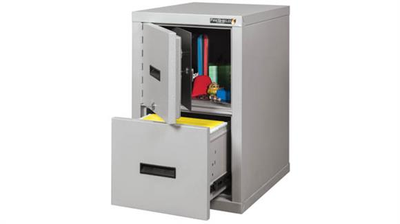 File Cabinets Vertical FireKing 2 Drawer Fireproof Safe in a File