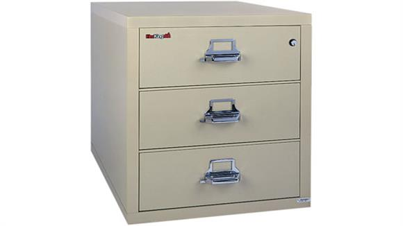 "File Cabinets Lateral FireKing 3 Drawer 31""W Fireproof Lateral File"