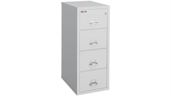 "File Cabinets Vertical FireKing 4 Drawer Fireproof Legal 25"" File"