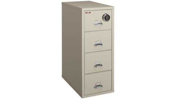 File Cabinets Vertical FireKing 4 Drawer Legal Fireproof File with Electronic Lock