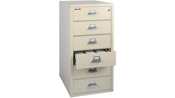 File Cabinets Vertical FireKing 6 Drawer Fireproof Card and Check File with 2 Section Inserts