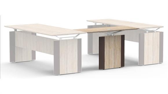 "Desk Parts & Accessories Forward Furniture 48""W x 20""D Reversible Bridge"