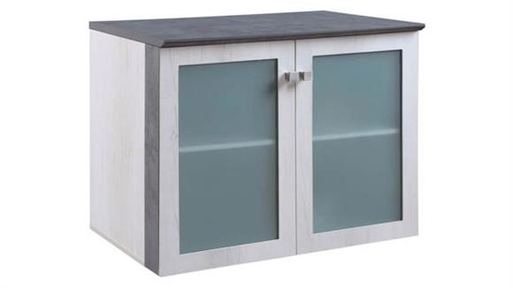 """Storage Cabinets Forward Furniture 36""""W x 24""""D Low Wall Storage Cabinet with Glass Doors"""