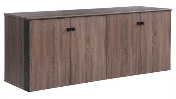 "Storage Cabinets Forward Furniture 72""W x 24""D Low Wall Storage Cabinet with Wood Doors"