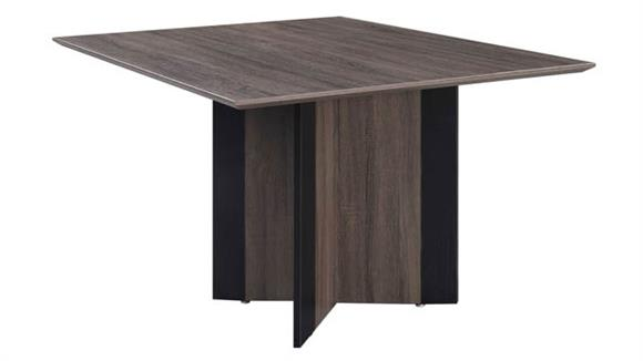 """Conference Tables Forward Furniture 48"""" Square Sitting Height Meeting Table"""