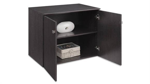 """Storage Cabinets Forward Furniture 36""""W x 24""""D Low Wall Storage Cabinet with Wood Doors"""