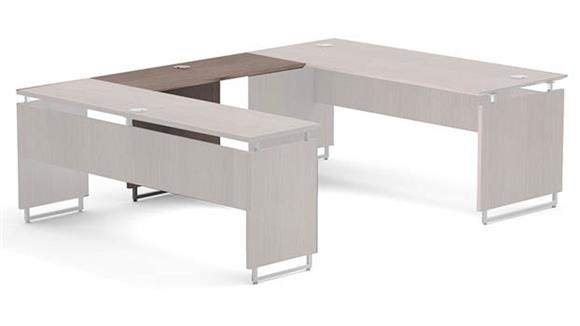 "Desk Parts & Accessories Forward Furniture 48""W x 20""D Reversible U-Desk Bridge"