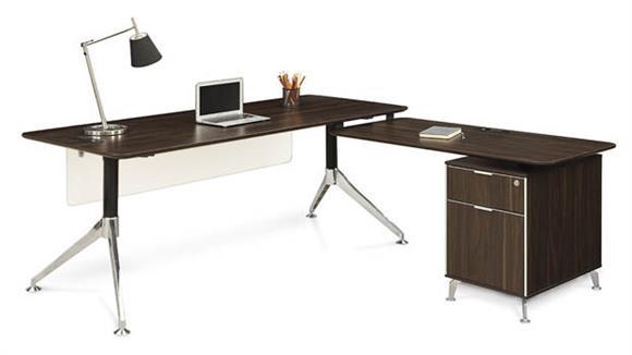 "L Shaped Desks Forward Furniture 71""W L-Desk"