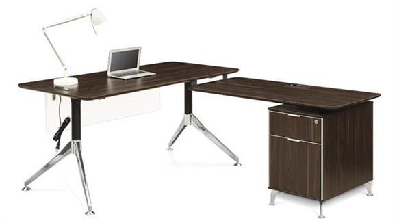 "L Shaped Desks Forward Furniture 60""W L-Desk"