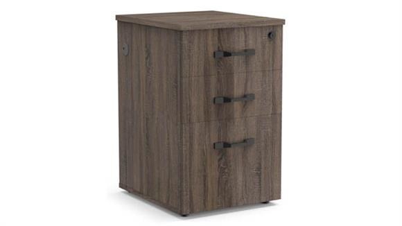 File Cabinets Vertical Forward Furniture Box/Box/File Pedestal with Power in Top Drawer - Assembled