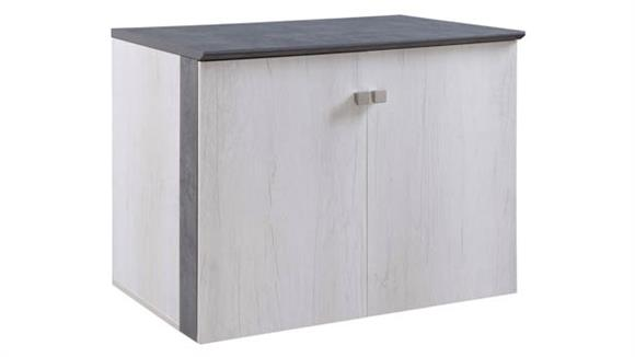 "Storage Cabinets Forward Furniture 36""W x 24""D Low Wall Storage Cabinet with Wood Doors"